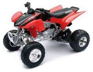 New Ray NY42833H HONDA TRX450R QUAD ROSSO JAPAN 1:12 Pz.12 Moto