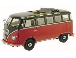 Schuco SH0284 VW T1b SAMBA 1963 DARK BROWN/RED 1:18 Modellino