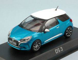 Norev NV155261 CITROEN DS 3 2016 METALLIC BLUE W/WHITE ROOF 1:43 Modellino