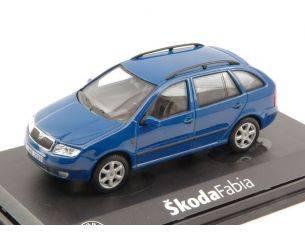 Abrex AB004LB SKODA FABIA COMBI 2004 BLUE LASER UNI 1:43 Modellino