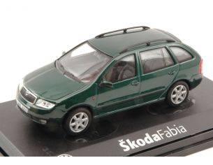 Abrex AB004H SKODA FABIA COMBI 2004 GREEN NATUR METALLIC 1:43 Modellino