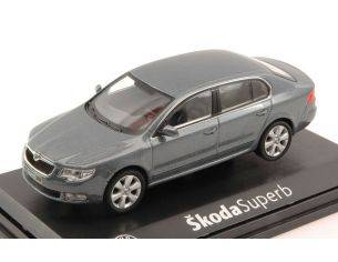 Abrex AB010CJ SKODA SUPERB II 2008 STEEL GREY METALLIC 1:43 Modellino