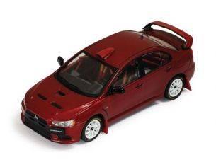 Ixo model MOC114 MITSUBISHI LANCER EVO X 2007 GRUPPO N WRC RALLY EDITION RED 1:43 Modellino