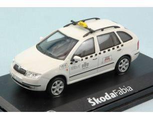 Abrex AB004XDE SKODA FABIA COMBI TAXI WHITE CANDY 1:43 Modellino