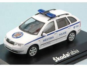 Abrex AB004XB SKODA FABIA COMBI PRAGUE CITY POLICE 1:43 Modellino
