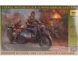 Zvezda Z3607 GERMAN WWII SIDECAR W/CREW KIT 1:35 Modellino