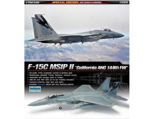 Accademy ACD12531 AEREO F15C MSIP II CALIFORNIA ANG 144TH FW KIT 1:72 Modellino