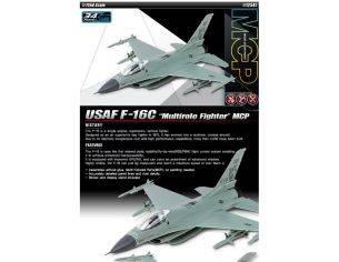 Accademy ACD12541 AEREO USAF F-16C MULTIROLE FIGHTER MCP KIT 1:72 Modellino