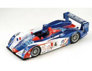 Spark Model S1803 AUDI R8 PLAYSTATION N.4 4th LM 2005 MONTAGNY-GOUNON-ORTELLI 1:18 Modellino