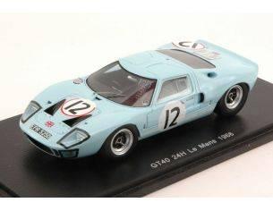 Spark Model S4072 FORD GT40 N.12 DNF LM 1966 I.IRELAND-J.RINDT 1:43 Modellino