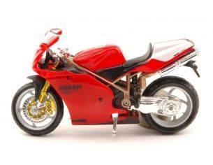 Mv agusta f4 silver//red 1:18 moto scala burago