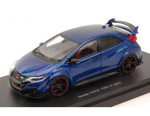 Ebbro EB45355 HONDA CIVIC TYPE R 2015 BRILLANT SPORTY BLUE METALLIC 1:43 Modellino