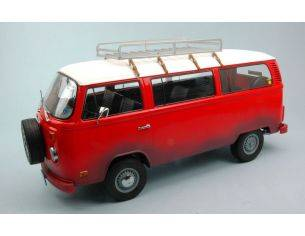 Greenlight GREEN19010 VW BUS T2B 1973 FIELD OF DREAMS (1989) RED/WHITE 1:18 Modellino