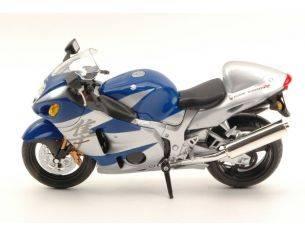 Joy City JOY600201 MOTO SUZUKI GSX 1300R SILVER/BLUE 1:12 Modellino