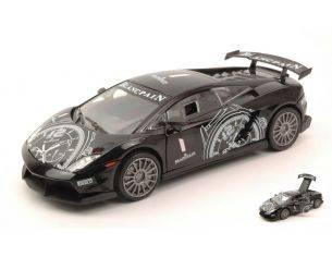 Motormax MTM73782 LAMBORGHINI GALLARDO LP560-4 SUPER TROFEO 2009 BLACK 1:24 Modellino