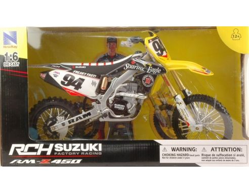 New Ray NY49523 SUZUKI RM-Z450 SUPERCROSS USA 2015 N.93 KEN ROCZEN 1:6 Modellino