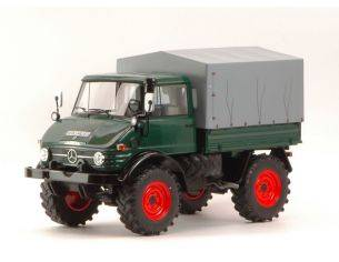 Premium Classixx PREM30007 MERCEDES UNIMOG 406 DARK GREEN WITH COVER 1:18 Modellino