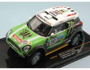 Ixo model RAM574 MINI ALL 4 RACING N.302 WINNER DAKAR 2013 S.PETERHANSEL-J.P.COTTRET 1:43 Modellino