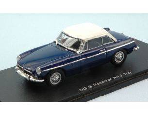 Spark Model S4138 MG B ROADSTER HARD TOP 1972 BLUE W/WHITE ROOF 1:43 Modellino