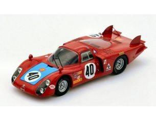 Spark Model S4368 ALFA ROMEO 33/2 N.40 6th LM 1968 M.CASONI-G.BISCALDI 1:43 Modellino