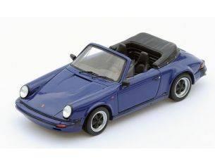 Spark Model S4468 PORSCHE 911 3.2 CABRIOLET 1989 BLUE 1:43 Modellino