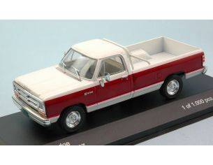 White Box WB180 DODGE RAM 1987 WHITE/BORDEAUX 1:43 Modellino