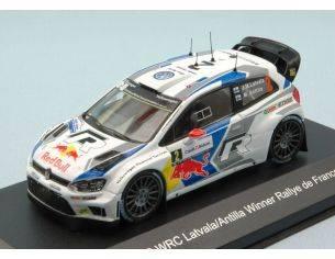 White Box WBR013 VW POLO R WRC N.2 WINNER R.DE FRANCE 2014 M. LATVALA-M.ANTTILA 1:43 Modellino