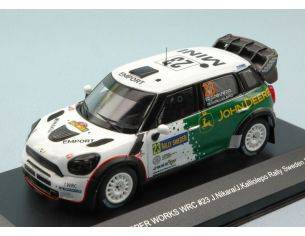 White Box WBR015 MINI JOHN COOPER WORKS N.23 25th SWEDEN 2013 J.NIKARA-J.KALLIOLEPO 1:43 Modellino