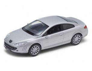 Welly WE22475 PEUGEOT 407 COUPE' 2004 SILVER 1:24 Modellino