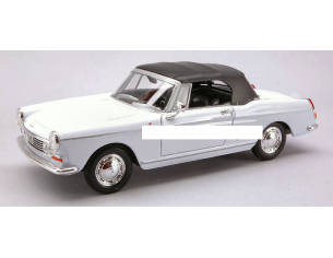Welly WE2012 PEUGEOT 404 SOFT TOP 1963 WHITE 1:24 Modellino