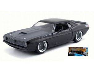 Jada JADA97195 PLYMOUTH BARRACUDA  1970 FAST & FURIOUS 7 BLACK 1:24 Modellino