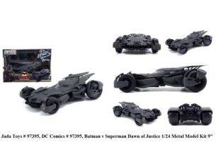 Jada JADA97395 BATMOBILE BATMAN VS SUPERMAN 2016 MATT BLACK 1:24 Modellino
