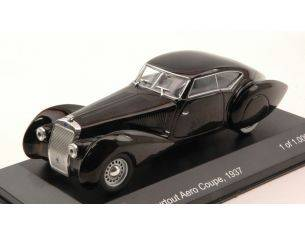 White Box WB183 DELAGE D8 120-S PORTOUT AERO COUPE' 1937 BLACK 1:43 Modellino