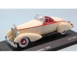 White Box WB178 PACKARD V12 LE BARON SPEEDSTER 1934 CREAM 1:43 Modellino