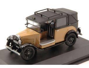 Oxford OXFAT007 AUSTIN LOW LOADER TAXI 1935 BEIGE/BLACK 1:43 Modellino