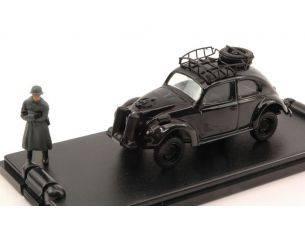 Mondo Motors MMVA016 VW TYP 82E BEETLE BLACK + FIGURE 1:43 Modellino