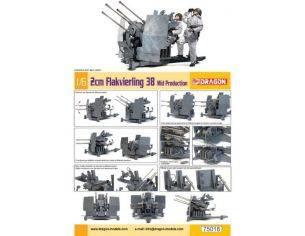 Dragon D75018 FLAKVIERLING 2CM 38 MID PRODUCTION KIT 1:6 Modellino