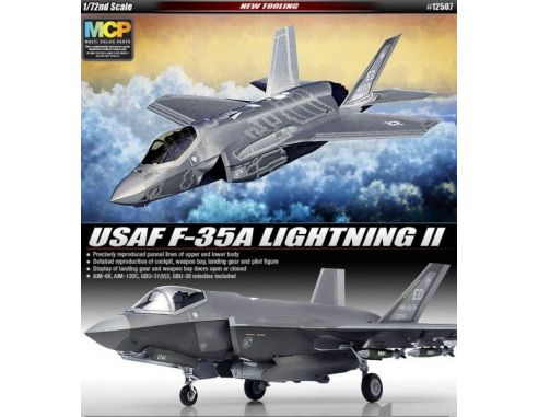 Accademy ACD12507 USAF F-35A LIGHNING II KIT 1:72 Modellino