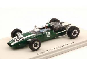 Spark Model S4805 COOPER T81 J.RINDT 1966 N.19 2nd BELGIUM GP 1:43 Modellino