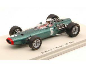 Spark Model S4249 BRM P261 P.COURAGE 1967 N.6 RETIRED MONACO GP 1:43 Modellino