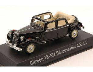 Norev NV153022 CITROEN TRACTION 15-SIX DECOUVRABLE 1951 BLACK 1:43 Modellino