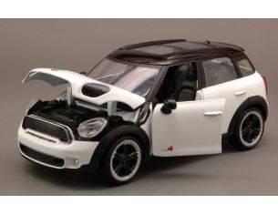 Motormax MTM73353WH MINI COOPER S COUNTRYMAN 2011 WHITE W/BLACK  ROOF 1:24 Modellino