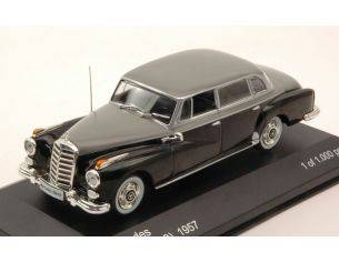 White Box WB186 MERCEDES 300D (W189) 1957 BLACK/GREY 1:43 Modellino