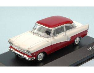 White Box WB190 FORD TAUNUS 17m (P2) 1957 WHITE/DARK RED 1:43 Modellino