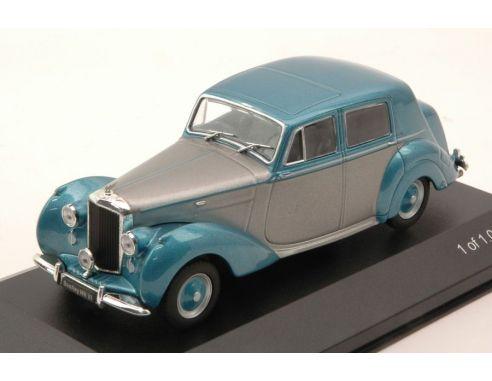 White Box WB185 BENTLEY MK VI 1950 SILVER/METALLIC LIGHT BLUE 1:43 Modellino