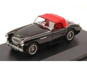 Oxford OXFAH1004 AUSTIN HEALEY 100 BN1 1953-1958 BLACK W/SOFT TOP RED 1:43 Modellino