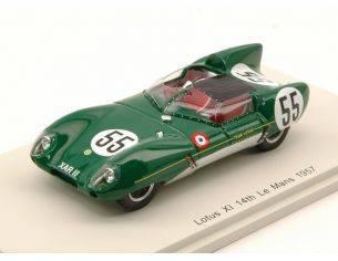 Spark Model S4399 LOTUS XI N.55 14th LM 1957 C.ALLISON-K.HALL 1:43 Modellino