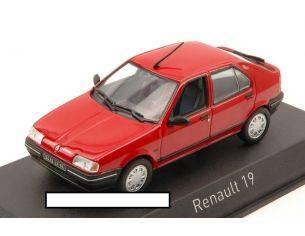 Norev NV511902 RENAULT 19 1989 VIVID RED 1:43 Modellino