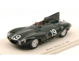 Spark Model S43SE55 JAGUAR D N.19 WINNER 12H SEBRING 1955 M.HAWTHORN-P.WALTERS 1:43 Modellino