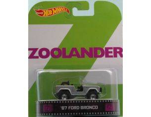 Hot Wheels HWBDV07 FORD BRONCO 1967 ZOOLANDER 1:64 Modellino